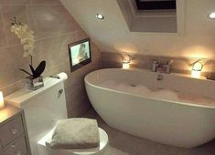 will hopefully one day have a deep bathtub - .- 🦋 wird hoffentlich eines Tages eine tiefe Badewanne haben – – Eines hopefully one day will have a deep bathtub – – - Deep Bathtub, Deep Soaking Tub, Modern Bathtub, Small Bathtub, Modern Bathroom, Bathtub Decor, Bathtub Tile, Concrete Bathroom, Small Bathroom Inspiration
