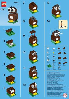 Over time, gathered some cool LEGO stuff. Brochures, flyers, pamphlets, etc. This seems like as good a place as any to share them! LEGO mini-build instructions LEGO owl LEGO dog LEGO turkey LEGO KidsFest Tips & Tricks brochures These Continue reading Lego Duplo, Lego Design, Notice Lego, Legos, Easy Lego Creations, Instructions Lego, Lego Dog, Lego Therapy, Modele Lego