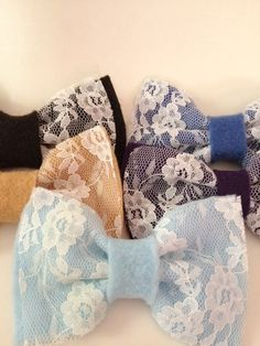 DIY: Lace hair bows