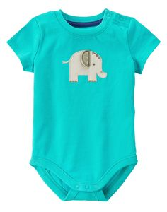 2e61881b7 Elephant Bodysuit at Gymboree Collection Name: Elephant Oasis (2015) Baby  Boy Outfits,