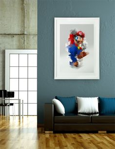 """Super Mario "", Limited Edition Fine Art Print by Nicola felasquez Felaco  - From $45.00 - Curioos"