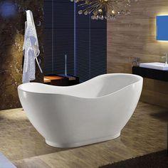 "Golden Vantage 67"" SR-AK-PF290-67-00 Europe Style Bathroom Bathtub Freestanding White Acrylic Bath Tub"