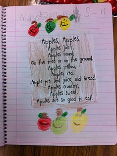 Click the picture below to get a copy of apple measuring. My apple unit . Preschool Science, Preschool Crafts, Harvest Poems, Kindergarten Poems, Apple Unit, Apple Theme, Finger Plays, Classroom Inspiration, Autumn Activities