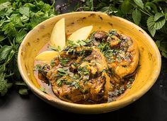 Sicilian Lamb Spezzatino With Saffron and Mint Recipe - NYT Cooking Mint Recipes, Beer Recipes, Lamb Recipes, Cooking Recipes, Bison Recipes, Savoury Recipes, Lamb Stew, Lamb Dishes, Sicilian