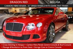 Image result for 2013 bentley continental gt speed red