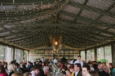 Starlights on the ceiling - Sarah and Con's Sweet Family Farm Wedding