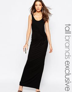 Y.A.S Tall Maxi Dress With Knot Front