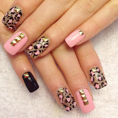 Light pink with gold design