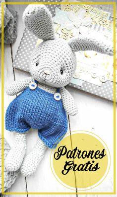 Patrón de Ganchillo Gratis Conejito Amigurumi Crochet Rabbit, Crochet Birds, Crochet Teddy, Crochet Bunny, Crochet Food, Crochet Animals, Owl Crochet Patterns, Animal Sewing Patterns, Crochet Patterns Amigurumi
