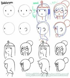 Bonniebel head and expressions - ad time style - Adventure Time Base, Adventure Time Drawings, Adventure Time Characters, Adventure Time Anime, Cartoon Drawings, Cartoon Art, Adventure Time Zeichnungen, Different Drawing Styles, Really Cool Drawings