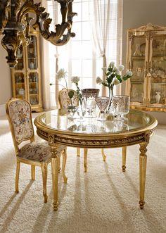 Italian Luxury Dining Room Wood Furniture. Andrea Fanfani Italy