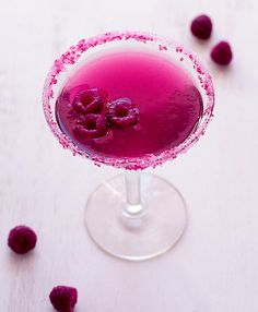 Pink Raspberry Cosmopolitan - made with Van Gogh Raspberry Vodka this would be a perfect #bridecocktail