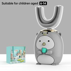 Smart 360 Degress U Sonic Kids Electric Silicone Automatic Ultrasonic – dailyfashionlove Ultrasonic Toothbrush, Kids Electric Toothbrush, Acoustic Wave, Magnetic Levitation, Gifts For Pet Lovers, Accessories Store, Deep Cleaning, Cartoon Styles, Landline Phone