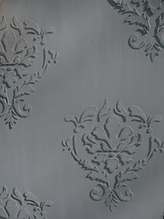 How to use Relief Stencils to add interest to furniture