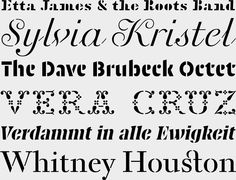 Oh, oh. Those are some beautiful stencil fonts.
