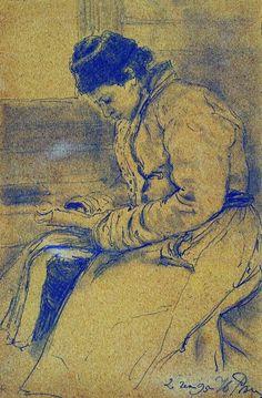 Portrait of a Woman - Ilya Repin