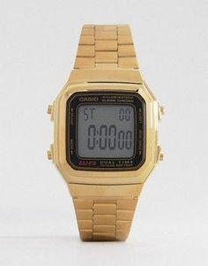 cde39ceb390e Shop Casio Gold Digital Vintage Style Watch at ASOS.