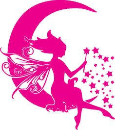 A personal favorite from my Etsy shop https://www.etsy.com/listing/264534958/fairy-moon-decals-kids-decals-girls-room