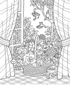 Adult Summer Coloring Pages New Blissful Scenes Coloring Ideas Free Adult Coloring, Adult Coloring Book Pages, Free Printable Coloring Pages, Free Coloring Pages, Coloring Books, Coloring Sheets, Summer Coloring Pages, Mandala Coloring, Summer Colors