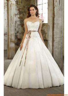 Robe de mariée princesse organza dentelle ceinture