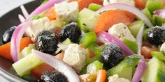 Salade grecque, tomate, concombre, feta...
