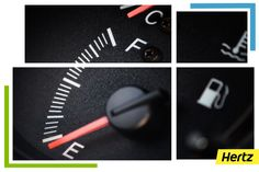 "Your fuel gauge tells you which side your gas tank is on. If you're driving a rental or other new-to-you car, you may not know which side to fill up on. In newer models, car makers have begun to include a ""secret triangle"" to show you just that. Next time you hop in the car, look on your car's fuel indicator for this small arrow beside the gas pump icon. This is an easy way to show drivers which side to pull up to the pump ‪#‎hertzfacts‬"