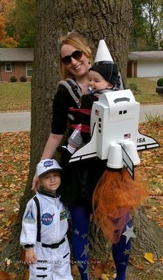 My dear daughter desperately wanted to be an astronaut for Halloween. Who better to be her space shuttle than her baby brother? I made his costume ...