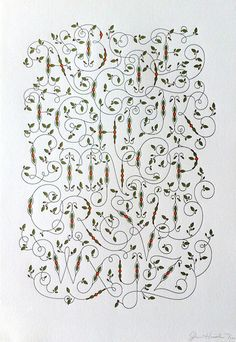 Viney Alphabet Letterpress Poster by Jessica Hische #luvocracy #poster #typography #graphicdesign #jessicahische