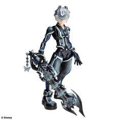 AmiAmi [Character & Hobby Shop]   Kingdom Hearts 3D - Play Arts Kai: Riku Tron: Legacy Ver. Action Figure(Released)