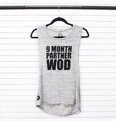Fashletics 9 Month Partner WOD tank top #CrossFit #Expecting