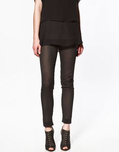 TRANSPARENT STUDIO LEGGINGS - Trousers - Woman - ZARA United States
