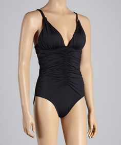 Look what I found on #zulily! Black Sands Leilani Classics Shape Bali One-Piece by Leilani #zulilyfinds