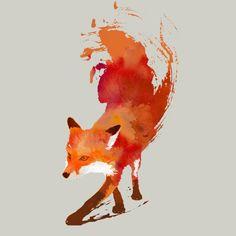 red fox tee shirt design - Custom T Shirt Design