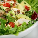 Low Carb Diet Program and Weight Loss Plan | Atkins--Chef Salad of Chicken, Bacon, Tomato, Avocado and Cheese