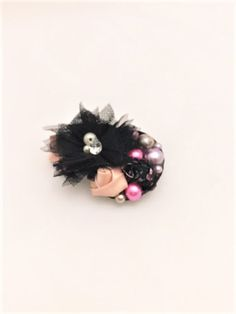 Excited to share this item from my shop: Floral Barrette, Flower Clip, Holiday Accessory, Christmas Clip Kawaii Accessories, Kawaii Jewelry, Fall Accessories, Gothic Hairstyles, Holiday Hairstyles, Holiday Hair Bows, Holiday Outfits, Black Hair Bows, Stocking Stuffers For Girls