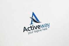 A Letter Logo - Active Way