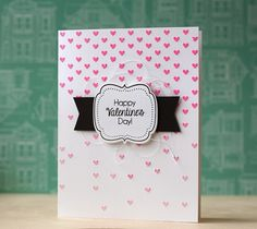 *Simon Says Stamp Stencil FALLING HEARTS SSST121333