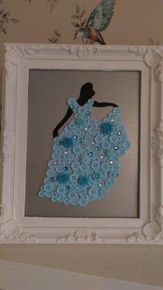 Cinderella button art More