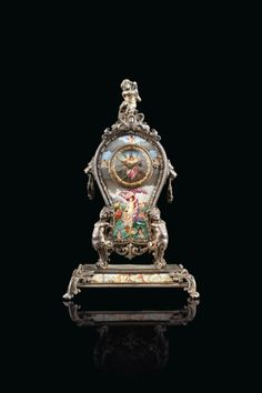 Mantle Clock, Silver Enamel, Michael Kors Watch, 19th Century, Lighting, Vienna, Clocks, Table, Accessories