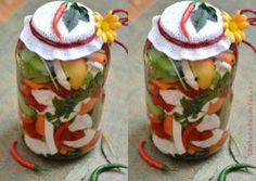 MURATURI PICANTE IN SARAMURA Canning Pickles, Jar, Sauces, Decor, Canning, Fine Dining, Decoration, Decorating, Gravy