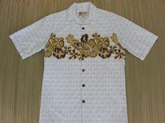 Vintage Hawaiian Shirt 80s HILO HATTIE Batik Hibiscus Aloha Mens - S - Oahu Lew's Shirt Shack by OahuLewsShirtShack on Etsy