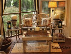 Hometalk :: Fall On The Screened Porch