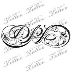 Infinity initials | 1st sketch #148232 | CreateMyTattoo.com