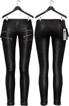 Maitreya Leather Skinny Pants * Black