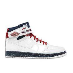 Air Jordan 1 High Strap Premium White White Varsity Red Midnight Navy
