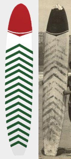 Réplique (200 x 13.2 x 40.3 mm) imprimée en 3D de la première planche de Surf importée en 1956 à Biarritz par le scénariste et surfeur californien Peter Viertel http://goo.gl/5ARSFb