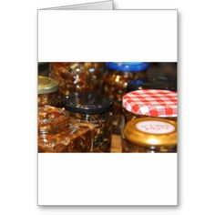 Jars of mincemeat card