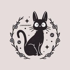 Quick Jiji design before starting a bunch of new projects for this month! Kiki's Delivery Service is probably my most watched Ghibli movie so it was about time I drew something for it! Art Studio Ghibli, Studio Ghibli Tattoo, Totoro, Tattoo Samurai, Kiki Delivery, Kiki's Delivery Service Cat, Ghibli Movies, Diy Tattoo, Hayao Miyazaki