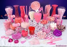 ...I had to represent pink with the candy buffet, since I love pink as well.