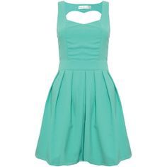 The back of this Sweetheart Cut Out dress is in the shape of a heart, adorbable!